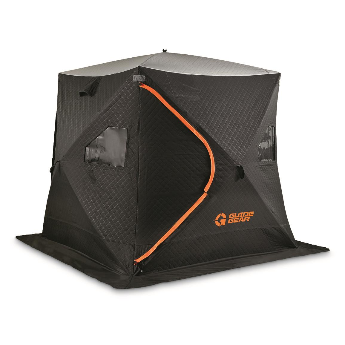 Guide Gear 6' x 6' Fully Insulated Ice Fishing Shelter