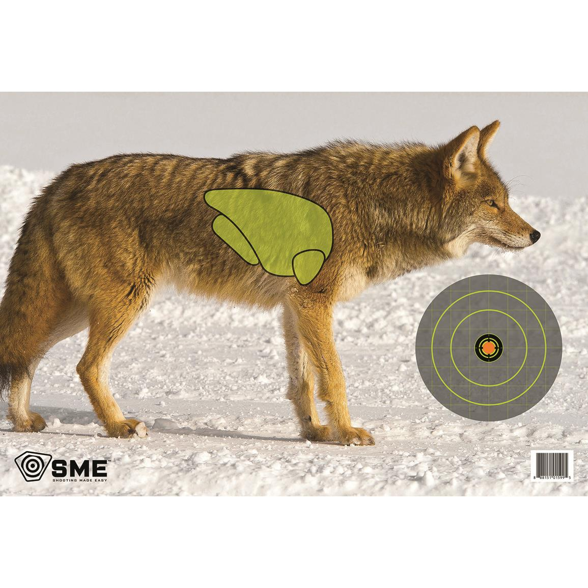 SME Vital Point Paper Target, 3 Pack, Coyote