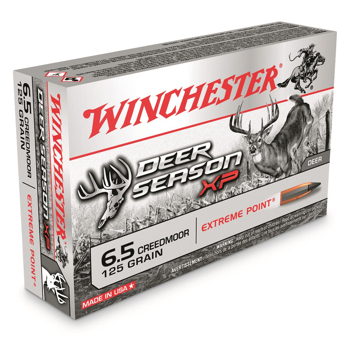 Winchester Deer Season XP, 6.5mm Creedmoor, Polymer-Tipped Extreme Point, 125 Grain, 20 Rounds