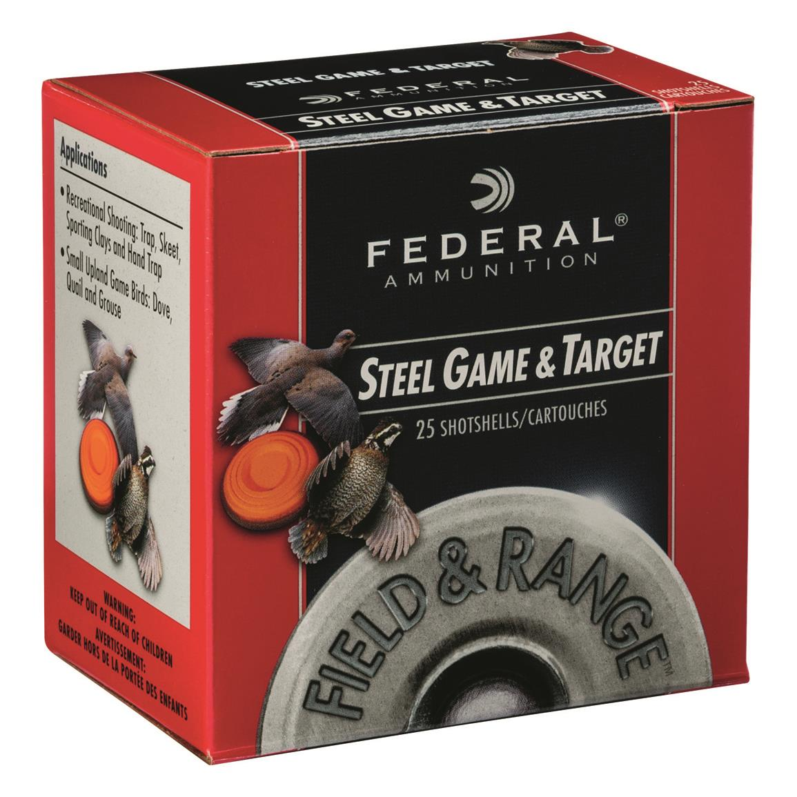 "Federal Premium Field and Range Steel, 28 Gauge, 2 3/4"", 5/8 oz., Shot Shells, 250 Rounds"
