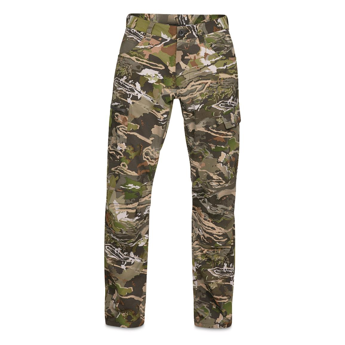Under Armour Men's Field Ops Hunting Pants, Forest/Black