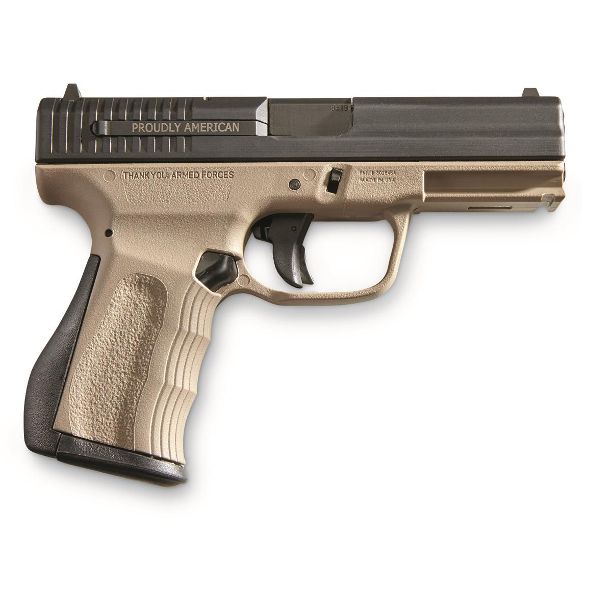 "FMK Firearms 9C1 G2 Compact FAT, Semi-Automatic, 9mm, 4"" Barrel, Dark Earth, 14+1 Rounds"