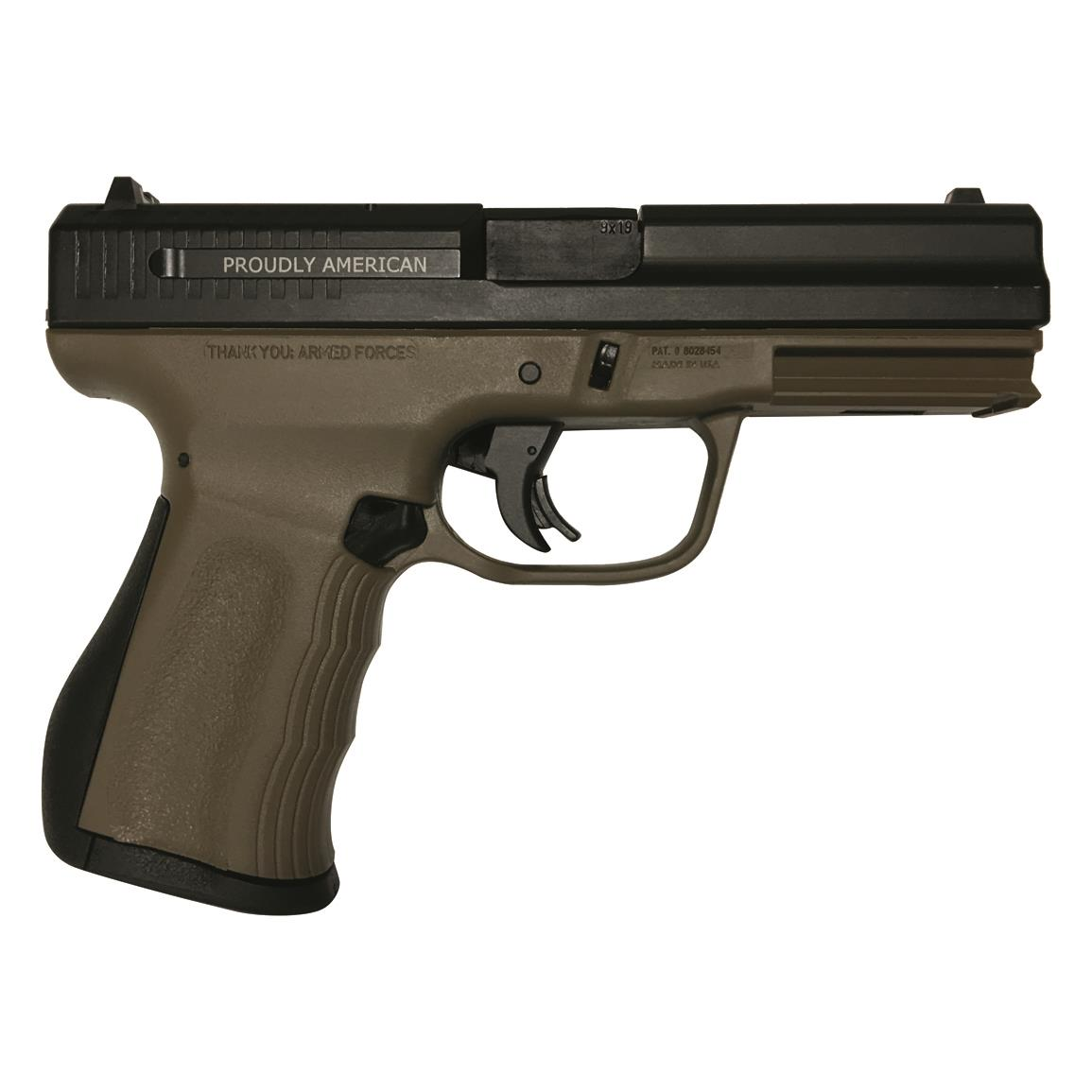 "FMK Firearms 9C1 G2 Compact FAT, Semi-Automatic, 9mm, 4"" Barrel, Burnt Bronze, 14+1 Rounds"