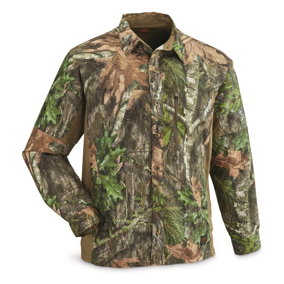Walls Men's Ultra-Lite Long-Sleeve Vented Hunting Shirt, Mossy Oak Obsession®