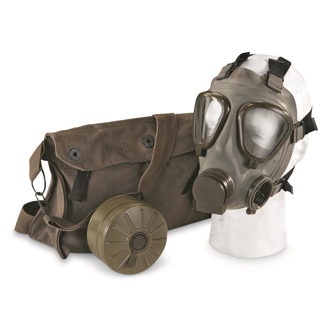 Serbian Military Surplus M2 Gas Mask with Bag, New