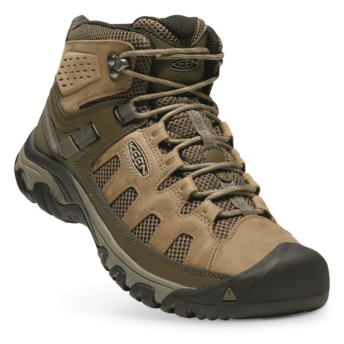 KEEN Men's Targhee Vent Mid Hiking Boots, Olivia/bungee Cord