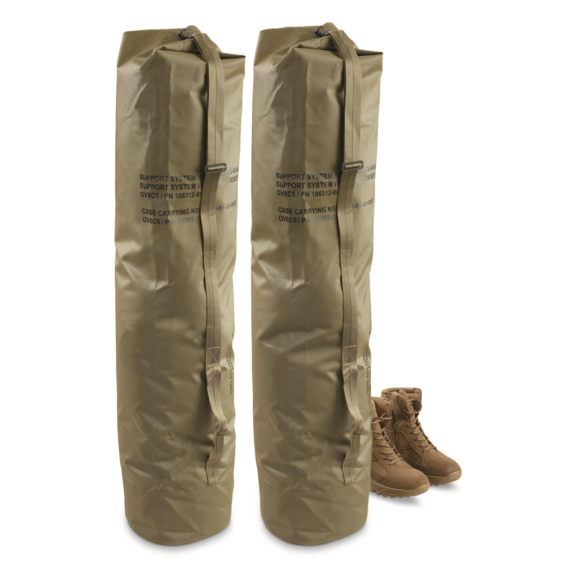 U.S. Military Surplus XL Rubberized Duffel Bags, 2 Pack, New
