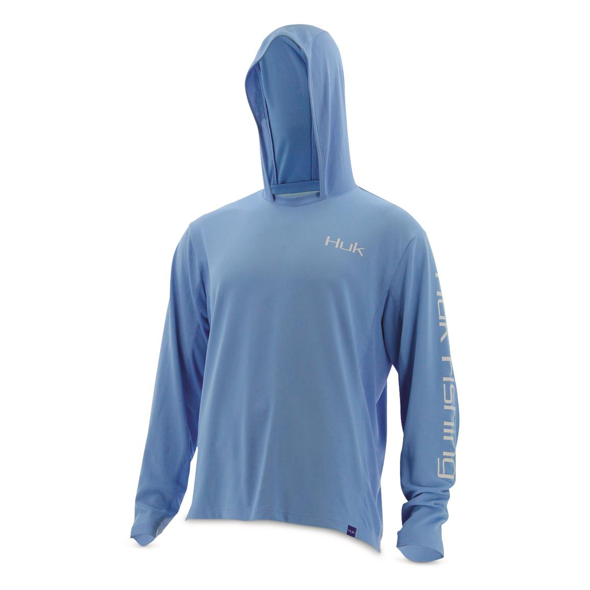 Huk Men's ICON Hoodie, Carolina Blue