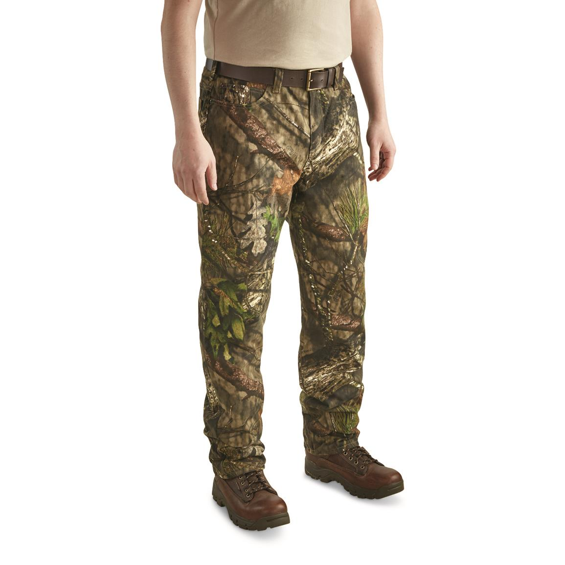 Guide Gear Men's Camo Insulated Jeans, Mossy Oak Break-Up® COUNTRY™