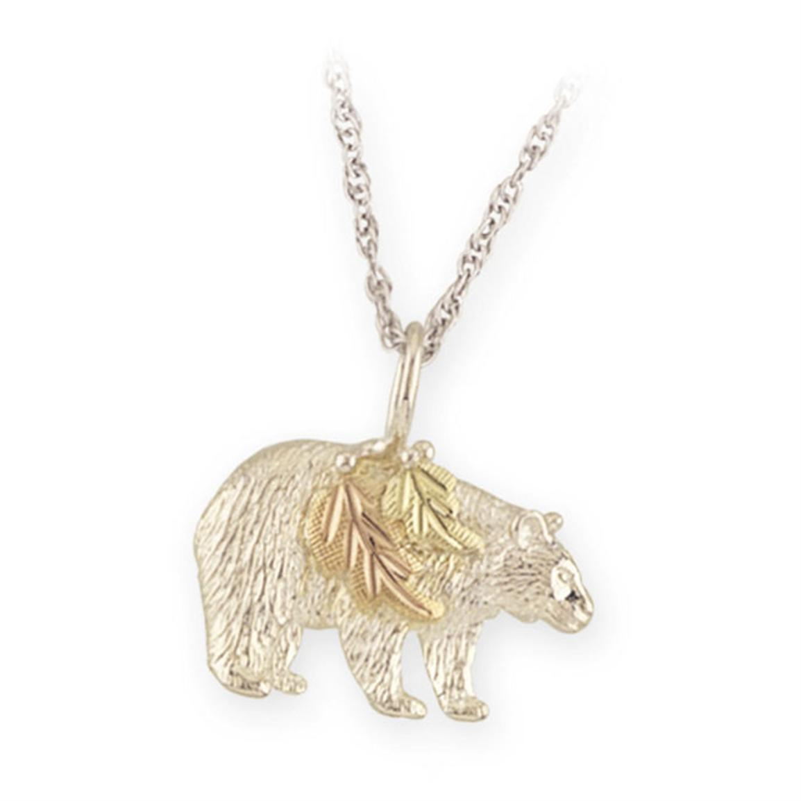 Mt. Rushmore Black Hills Gold® Sterling Silver Bear Necklace