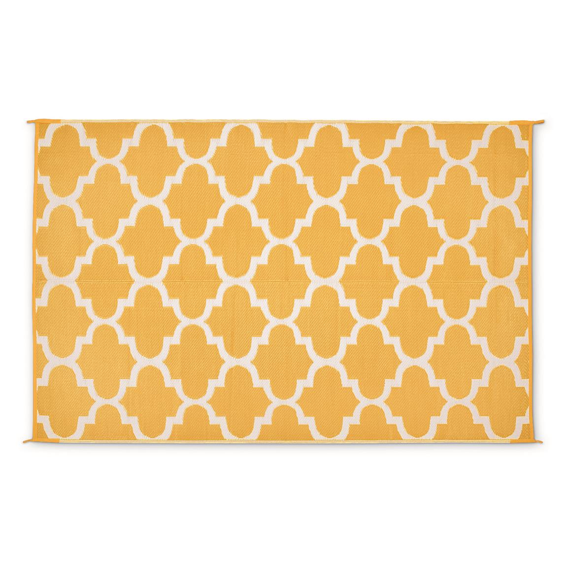 Guide Gear Moroccan Outdoor Rug, Mustard/white