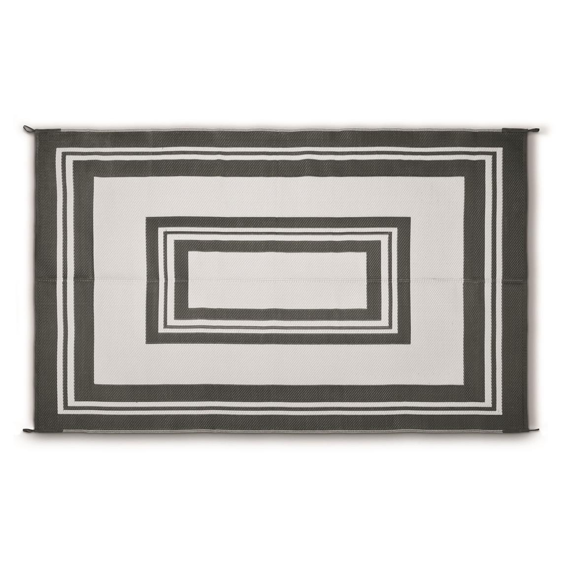 Guide Gear® Reversible Outdoor Rug, Border Pattern, Cream/black