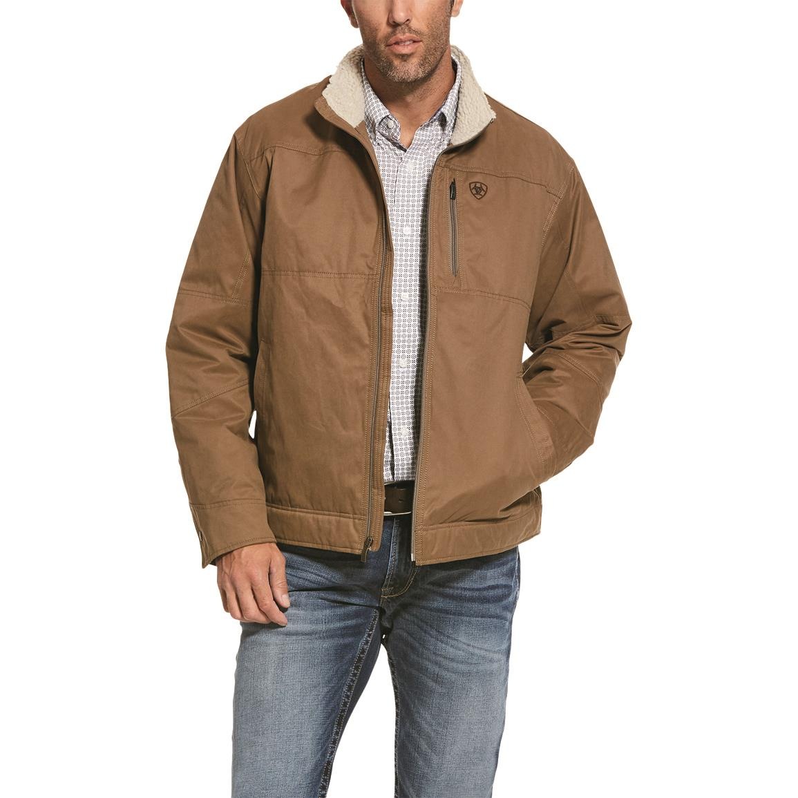 Ariat Men's Grizzly Canvas Jacket, Cub