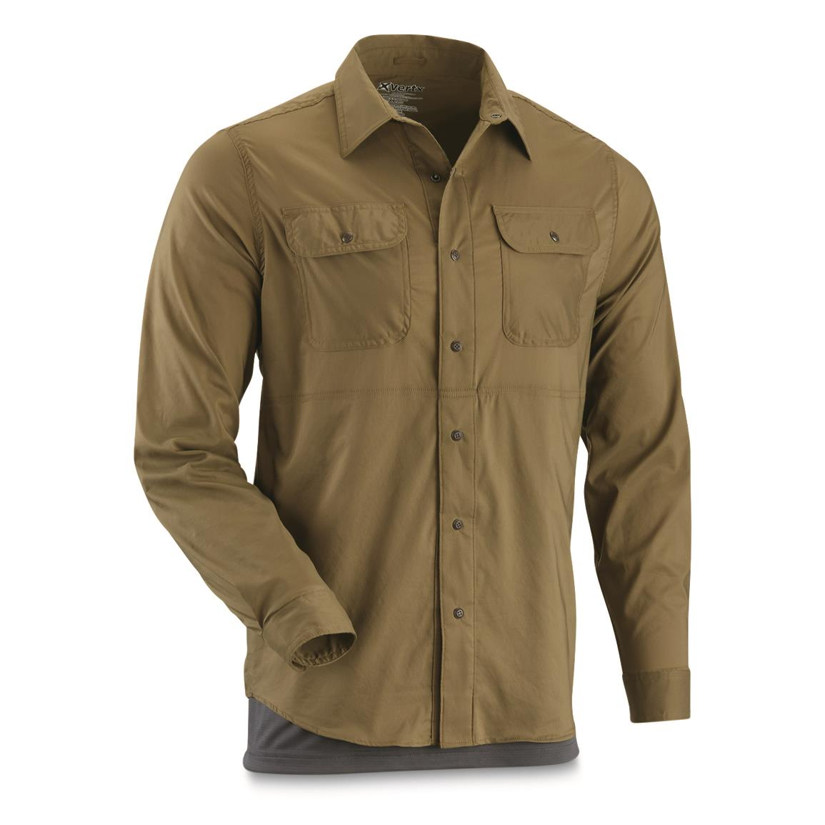 Vertx Guardian Long Sleeve Button Down Shirt with WeaponGuard, Olive