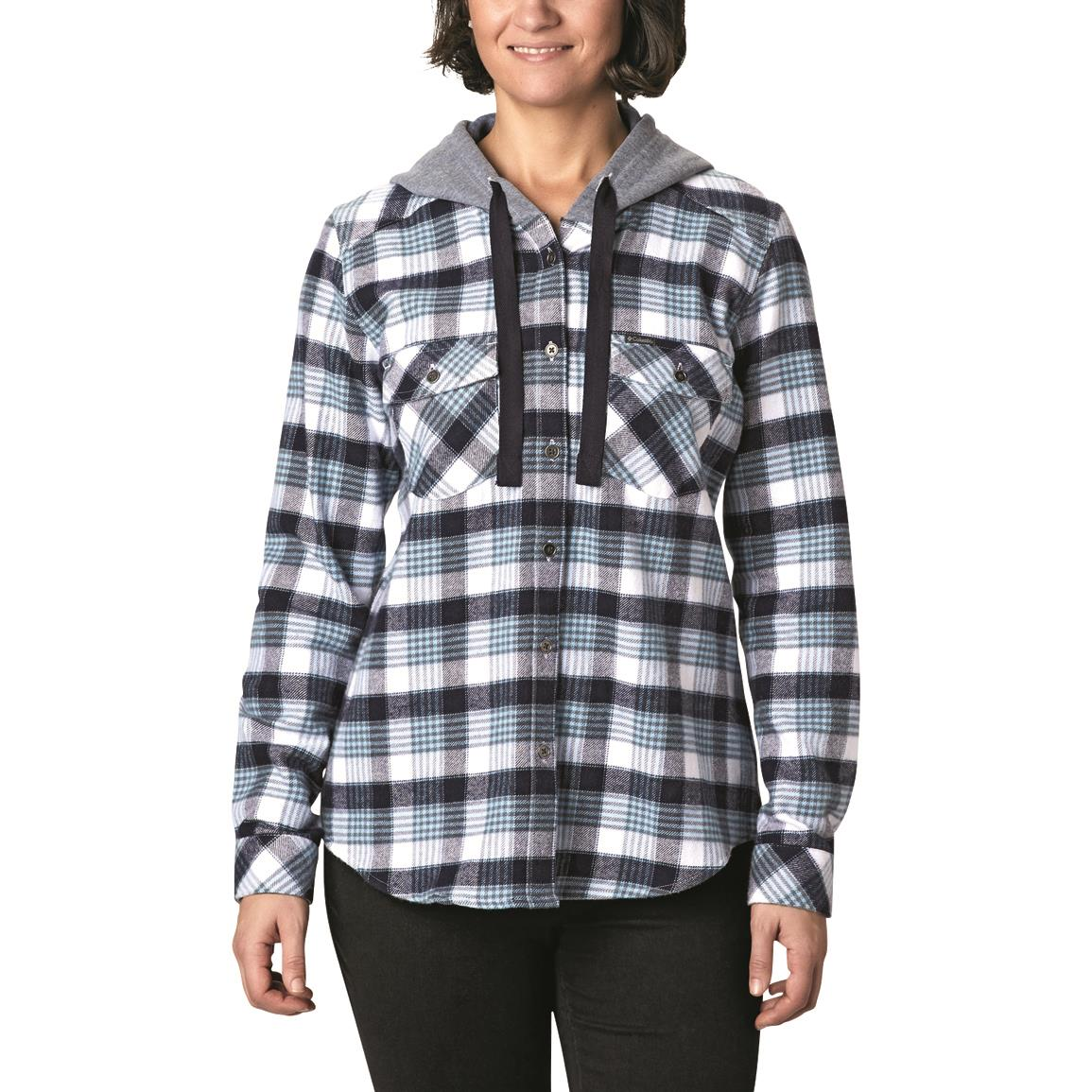 Columbia Women's Canyon Point Shirt Jacket, Dark Nocturnal Check