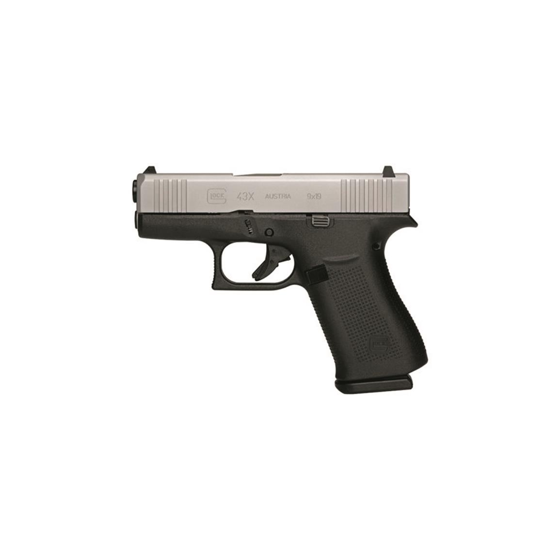 "Glock 43X, Semi-Automatic, 9mm, 3.41"" Barrel, Ameriglo Bold Night Sights, 10+1 Rounds"