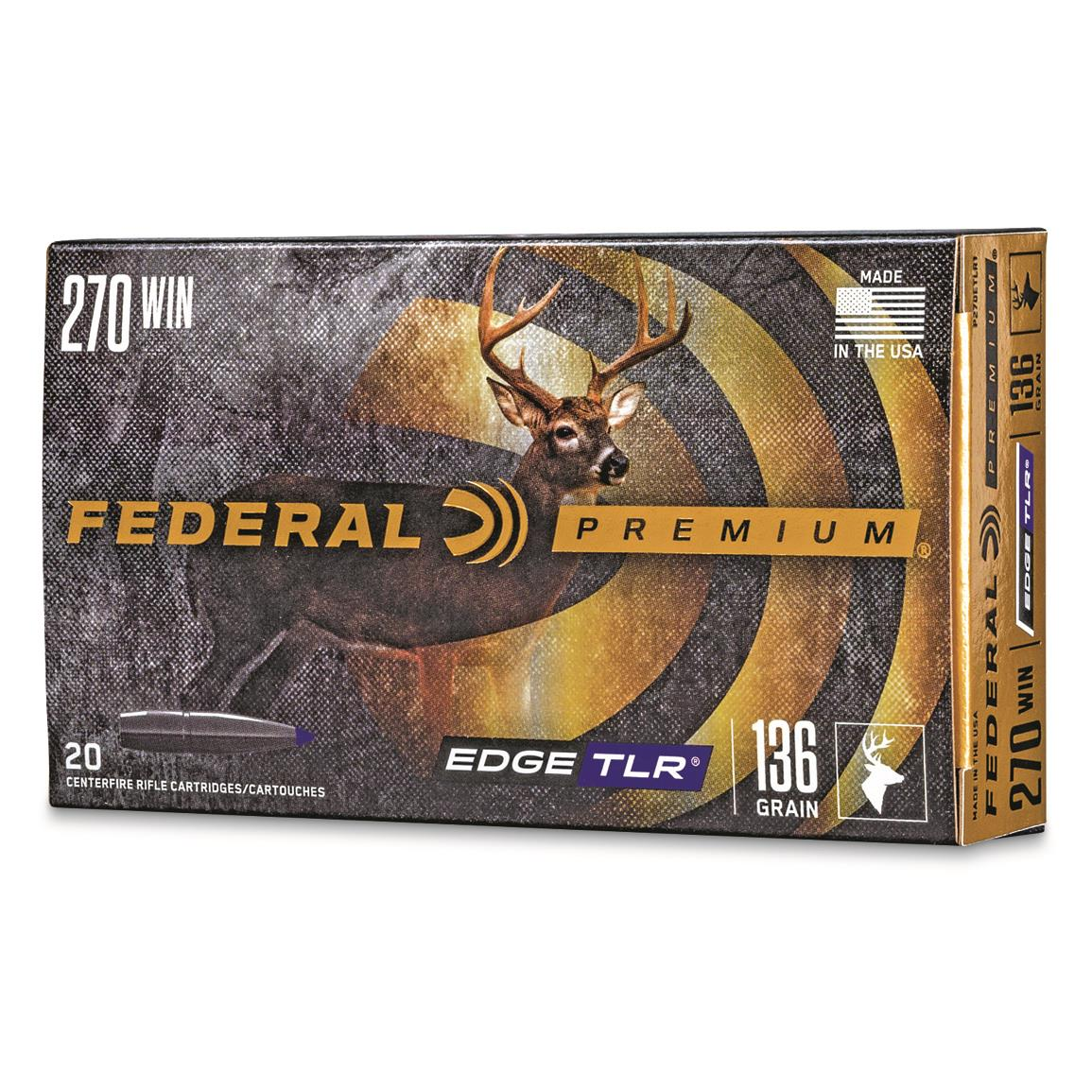 Federal Premium Edge TLR, .270 Winchester, Edge TLR, 136 Grain, 20 Rounds