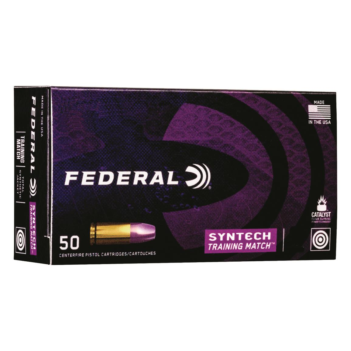 Federal Syntech Training Match, .45 ACP, TSJ, 230 Grain, 50 Rounds