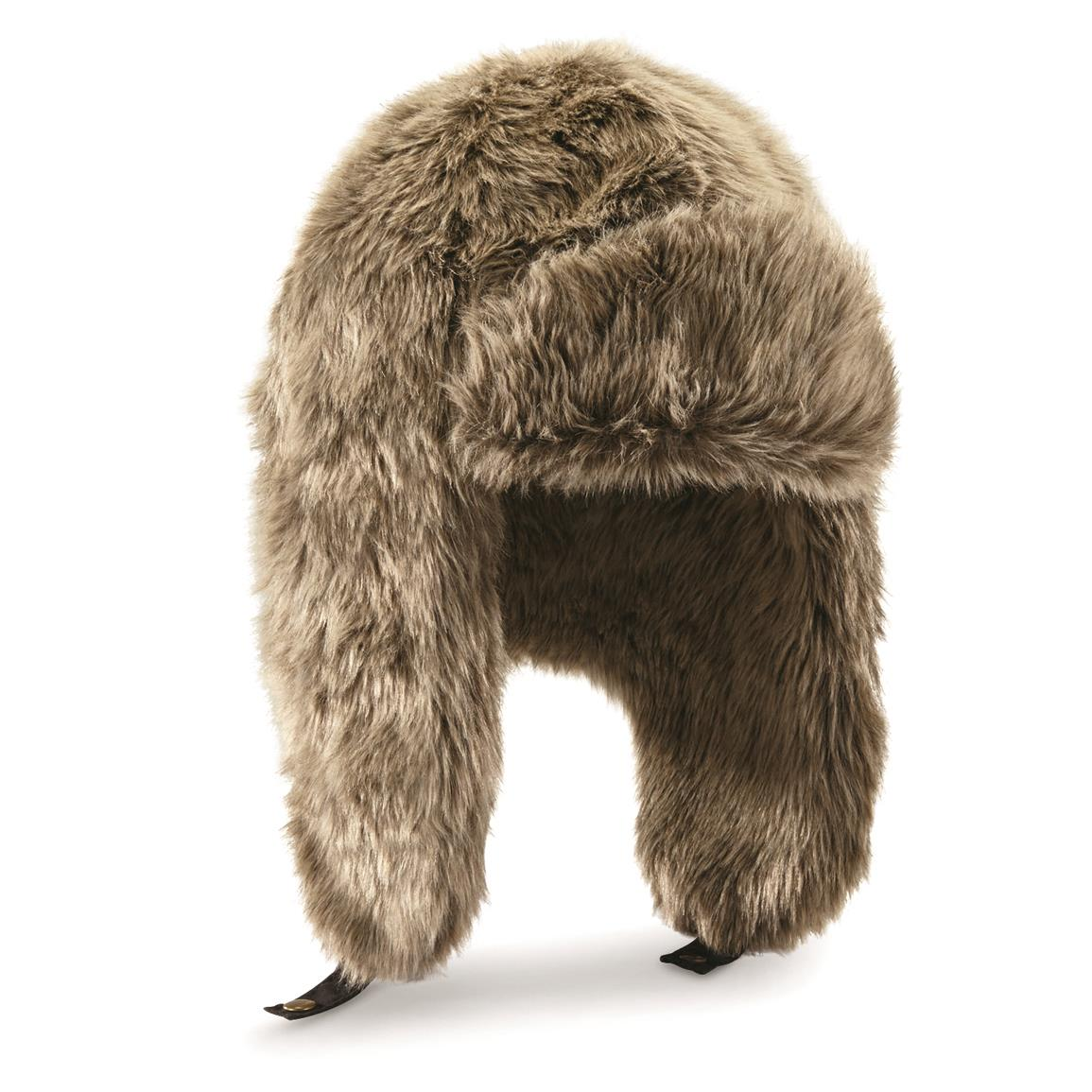 All-over Faux Fur Trapper Hat, Natural