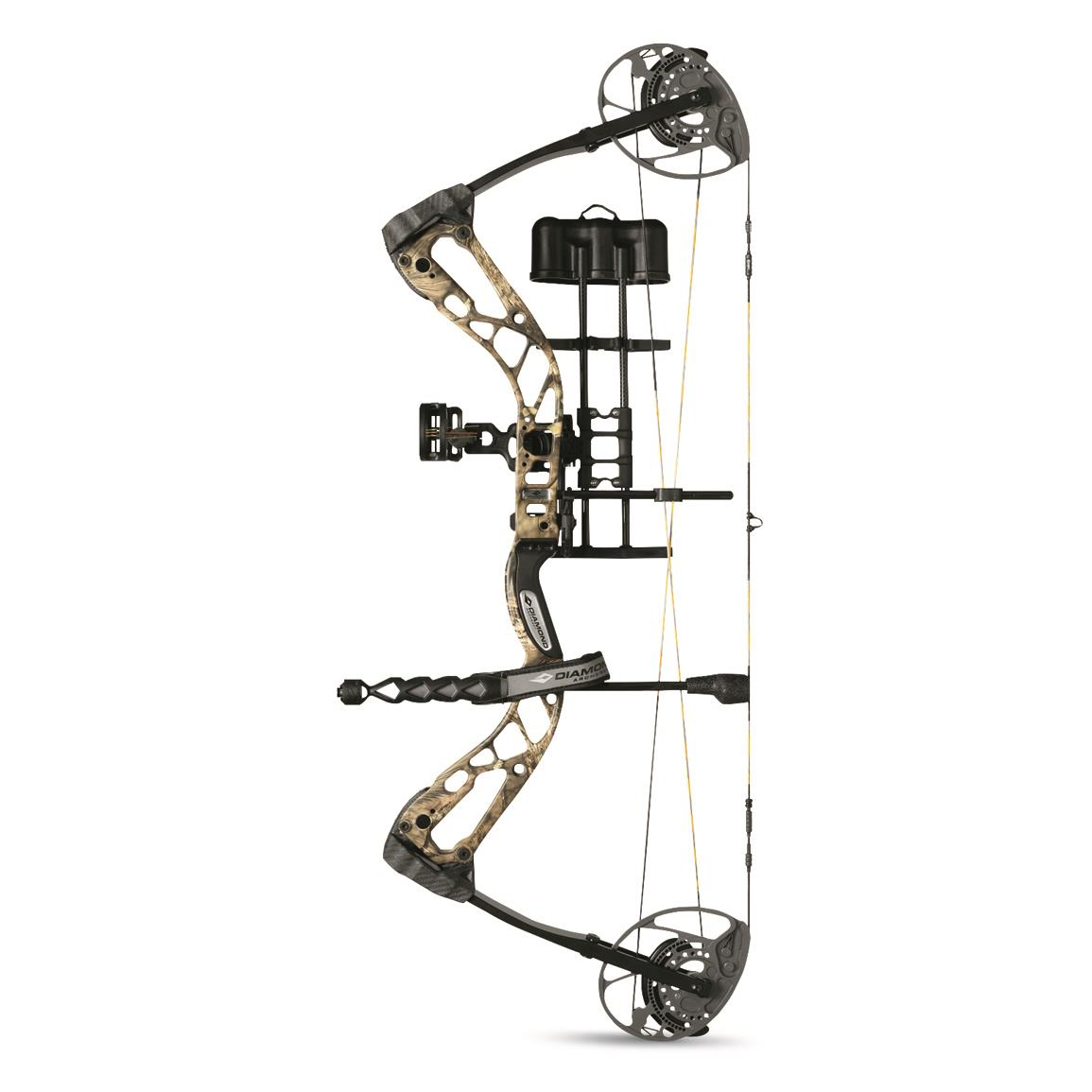 Diamond Archery Edge 320 Compound Bow Package, Mossy Oak Break-Up Country, Right Hand, Mossy Oak Break-Up® COUNTRY™