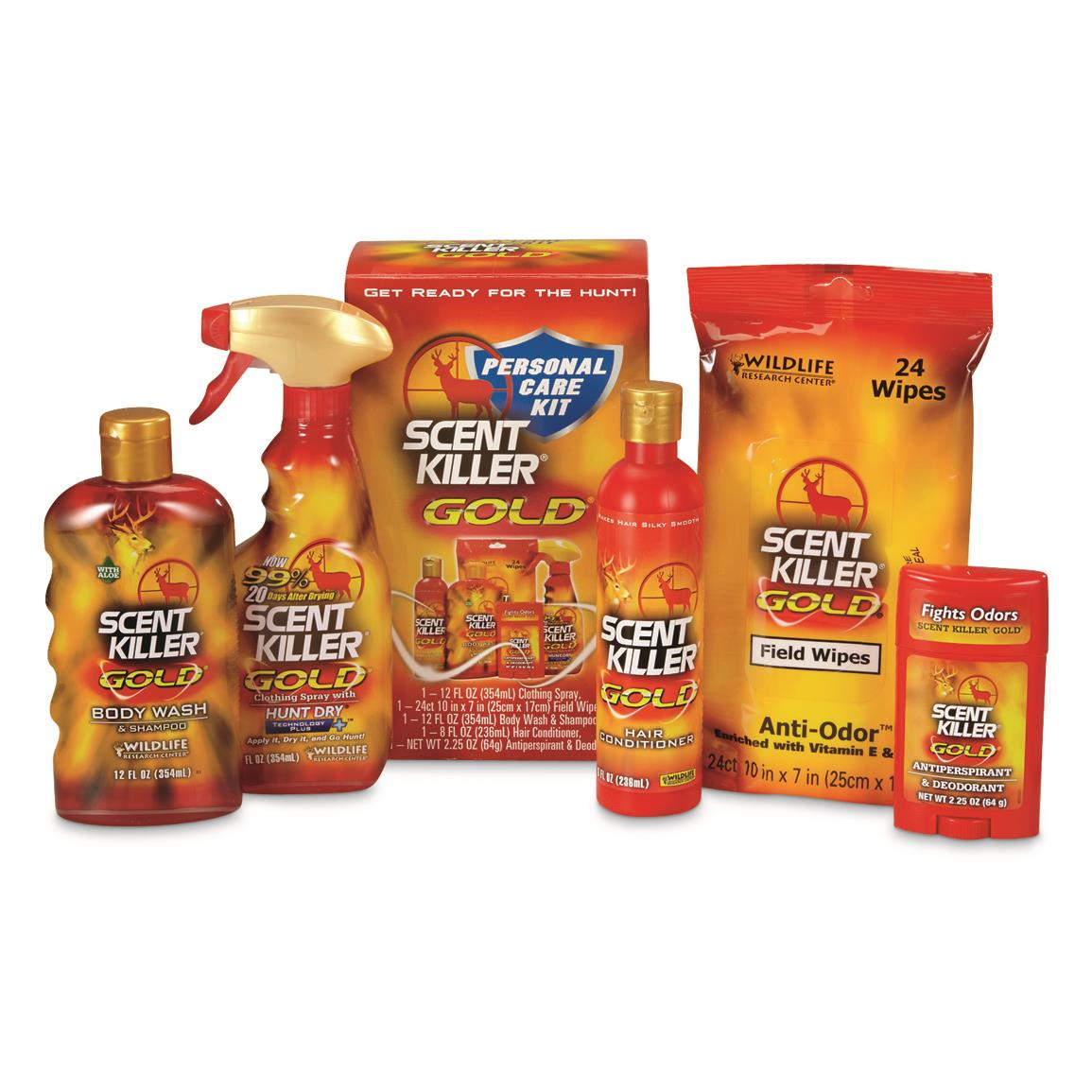 Wildlife Research Center Scent Killer Gold Personal Care Kit, 5-Pc.