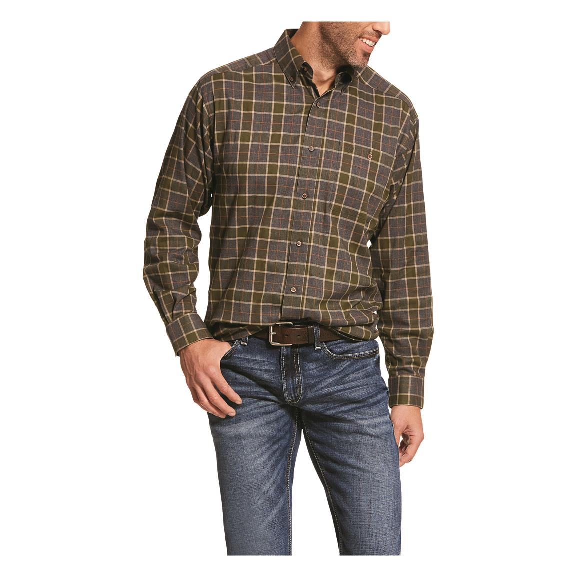 Ariat Men's Performance Flannel Long Sleeve Shirt, Elridge Multi