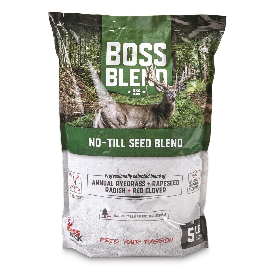Boss Buck Boss Blend No-Till Seed, 5-lb. Bag