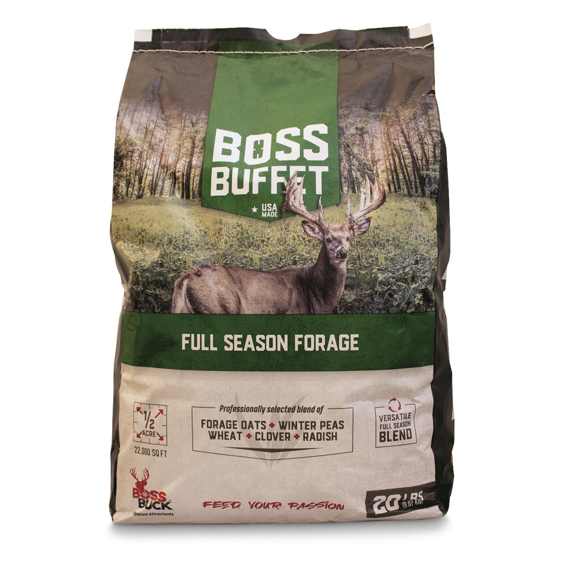 Boss Buck Boss Buffet Full-Season Forage, 20-lb. Bag