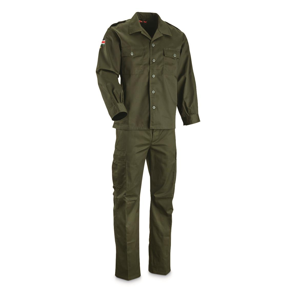 South Sudanese Military Surplus 2 Piece BDU Set, New, Olive Drab