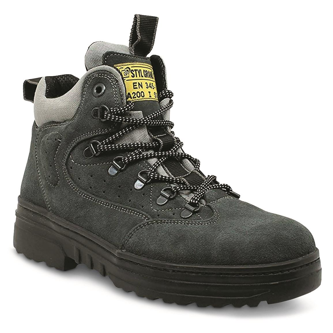 "Italian Military Surplus 6"" Safety Toe Work Boots, New"