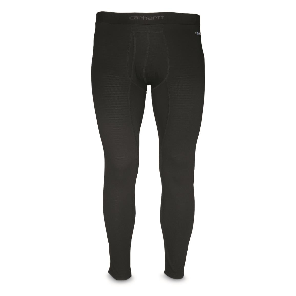 Carhartt Men's Base Force Midweight Classic Base Layer Bottoms, Black