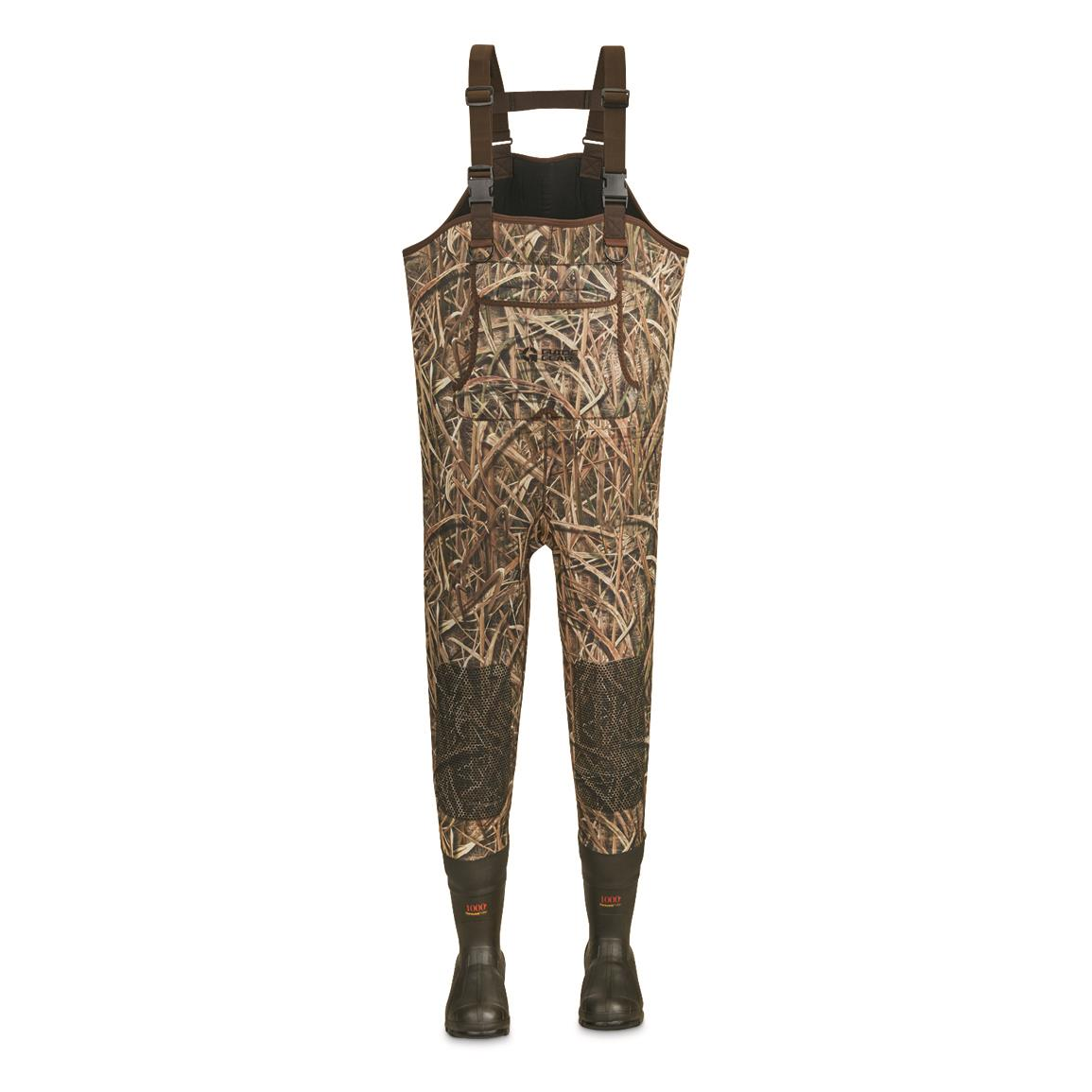 Guide Gear Men's Insulated Hunting Chest Waders, 1,000-gram, Stout Sizes, Mossy Oak Shadow Grass® Blades™