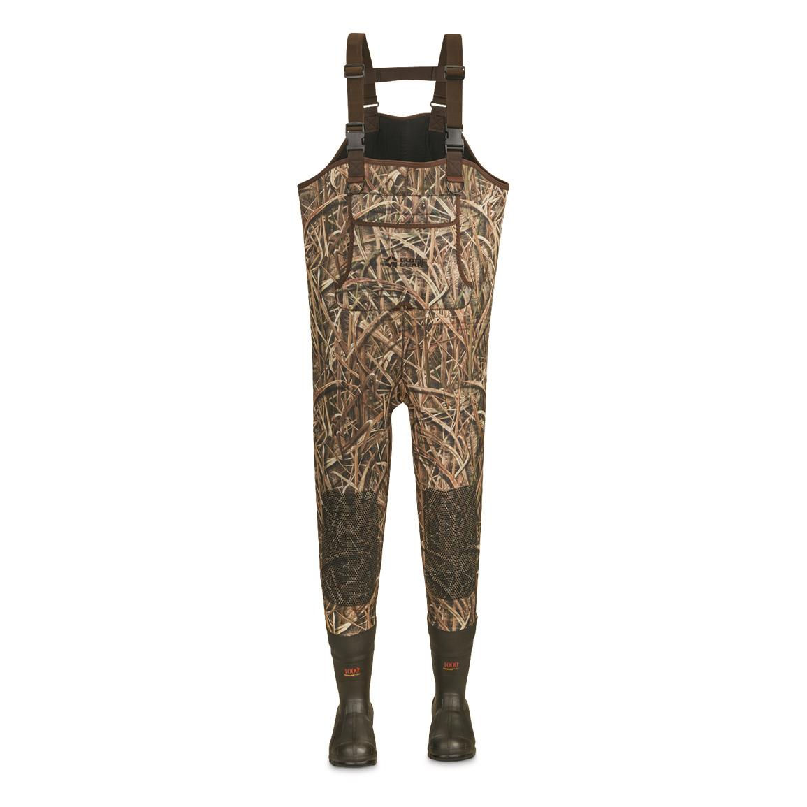 Guide Gear Men's 3.5mm Insulated Chest Waders, 600-gram, Mossy Oak Shadow Grass® Blades™