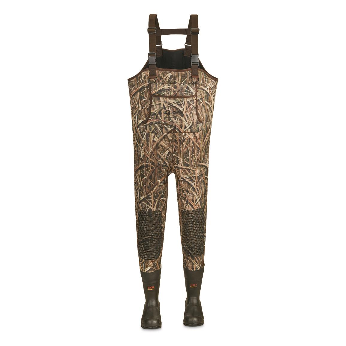 Guide Gear Men's 3.5mm Insulated Chest Waders, 600-gram, Stout Sizes, Mossy Oak Shadow Grass® Blades™