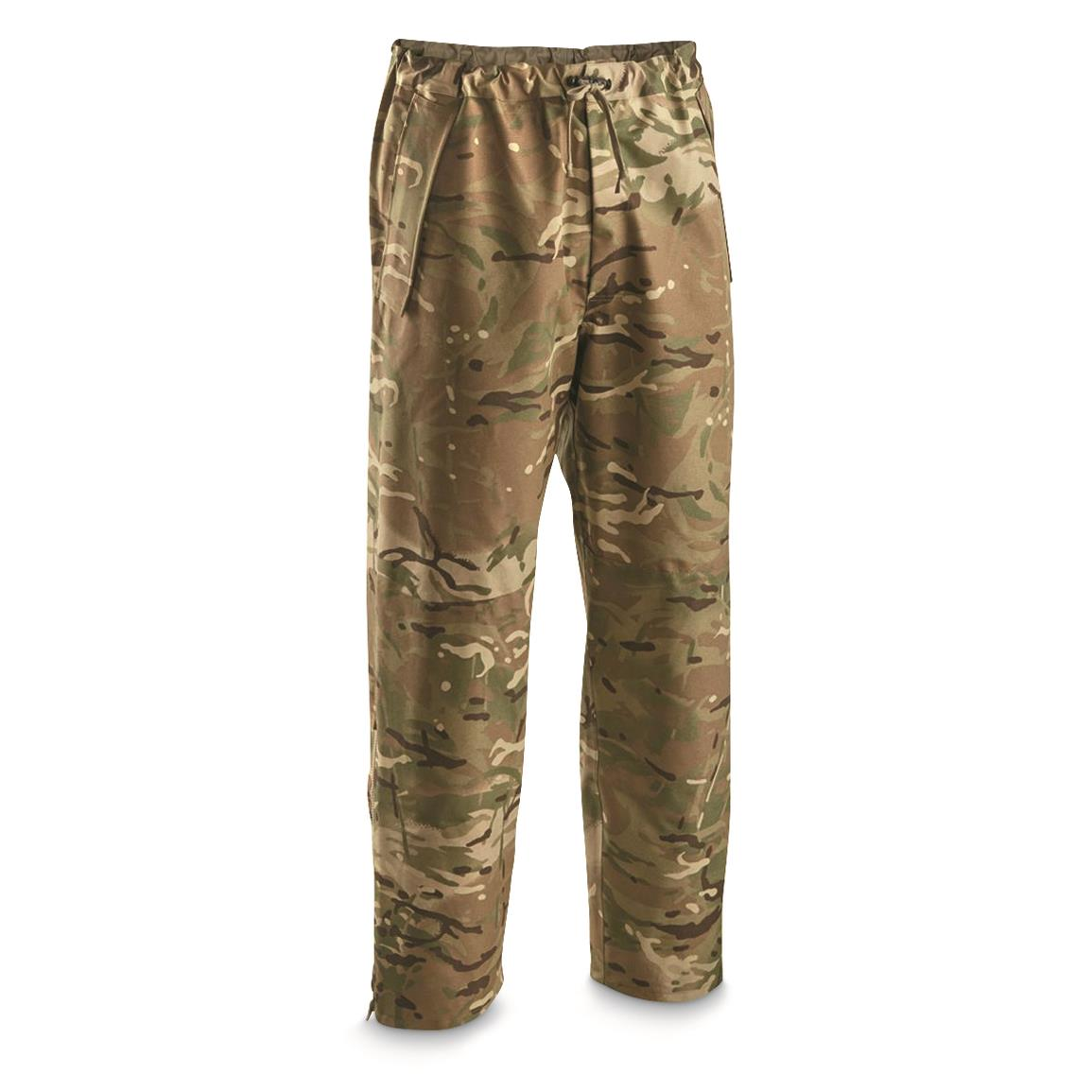 British Military Surplus Heavyweight GORE-TEX MTP Over Pants, New, Multi Terrain Pattern