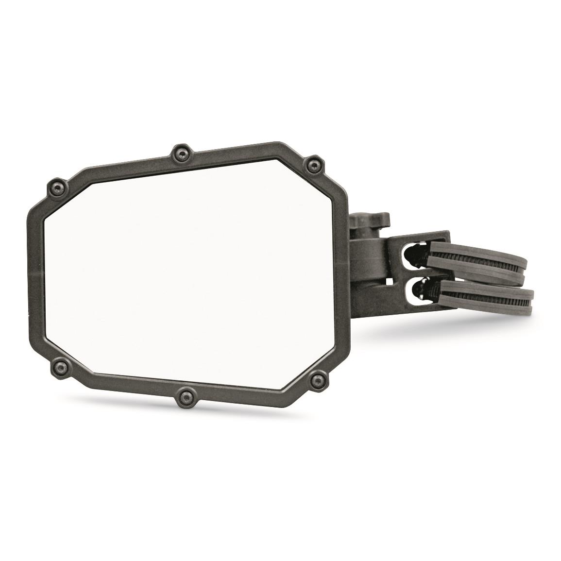 Convex style mirror increases field of view