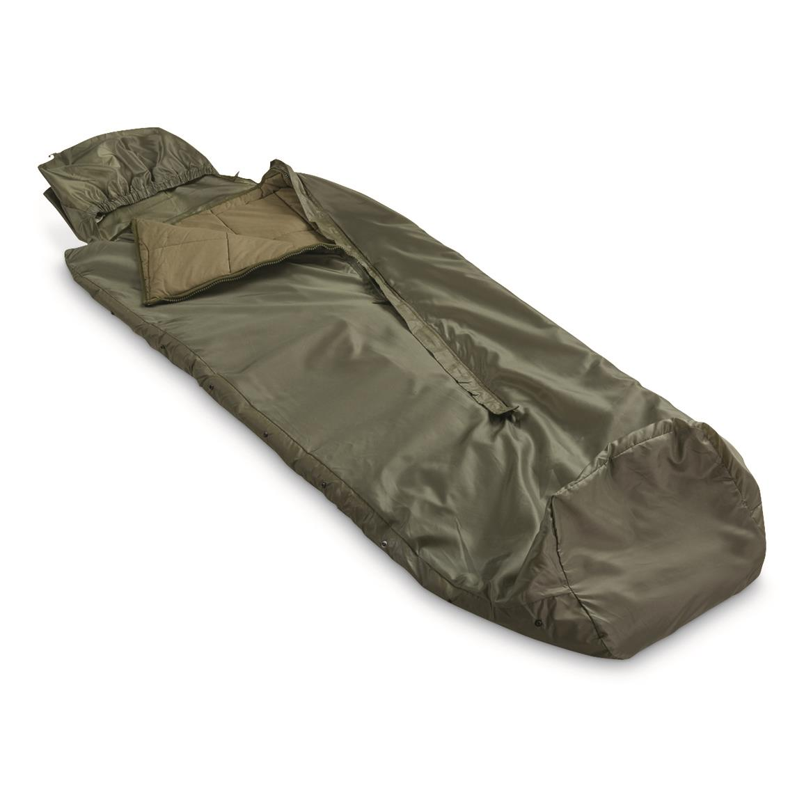 French Military Surplus Sleeping Bag, New