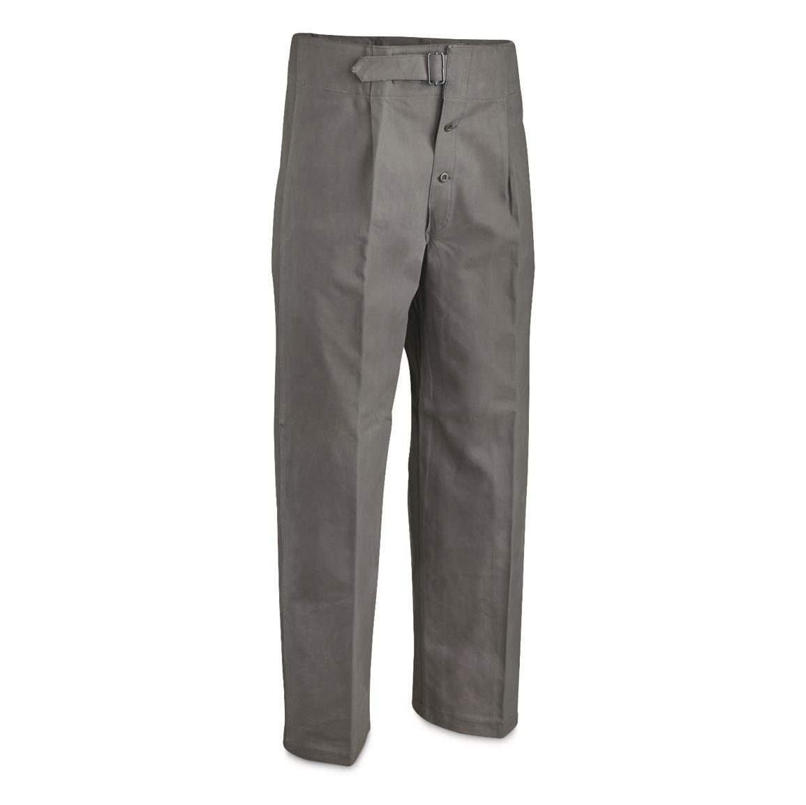 Italian Navy Surplus Waterproof Overpants, New, Gray