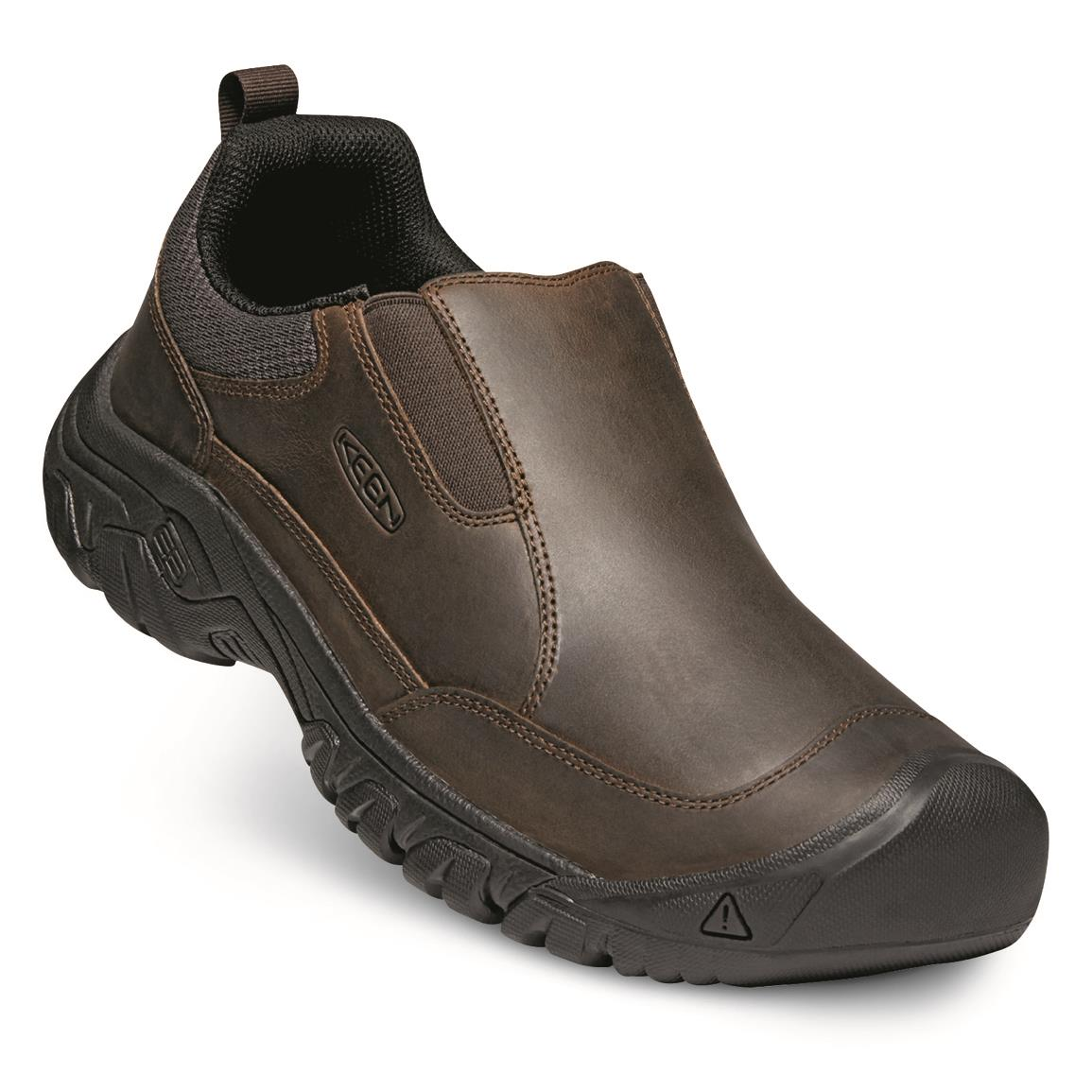 KEEN Men's Targhee III Slip-on Shoes, Dark Earth/mulch