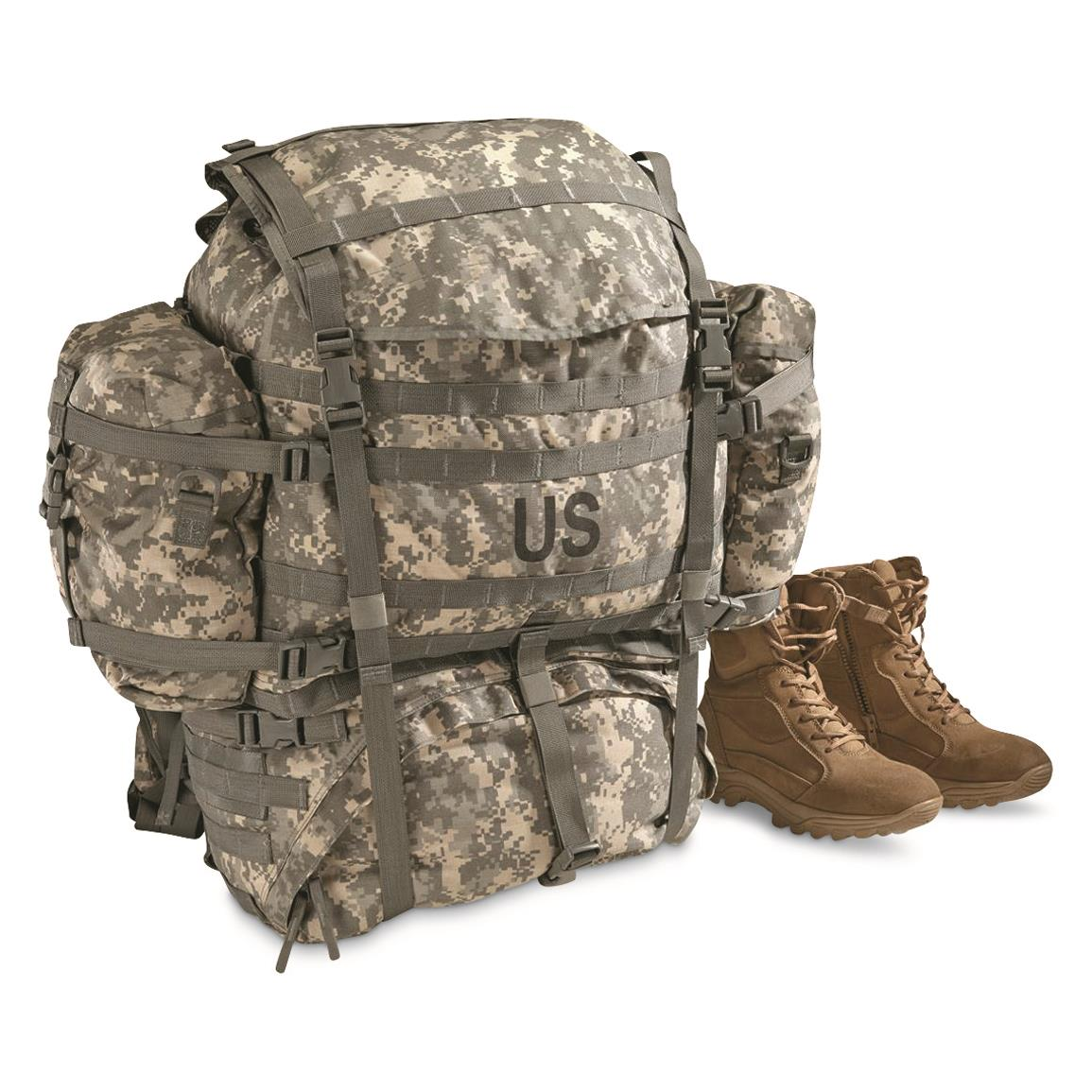 U.S. Military Surplus MOLLE Field Pack Complete with Frame, Used