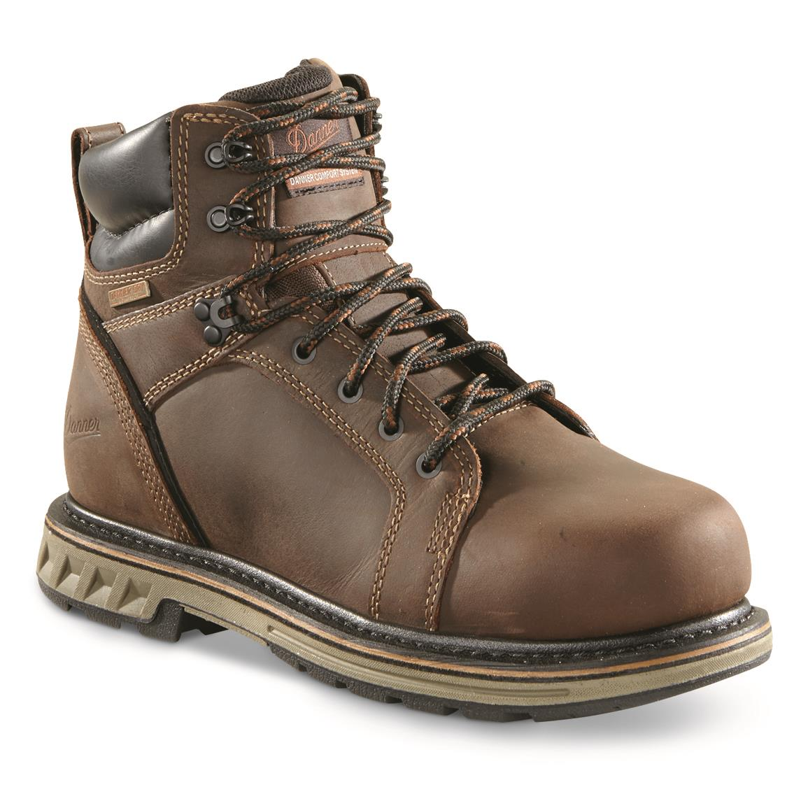 Danner Men's Steel Yard Waterproof Steel Toe Work Boots, Brown