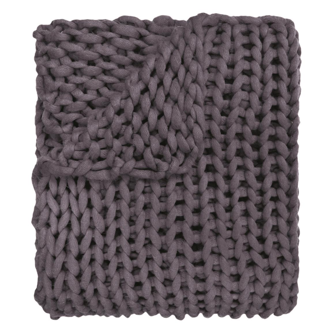 Your Lifestyle by Donna Sharp Chunky Knit Throw, Indigo