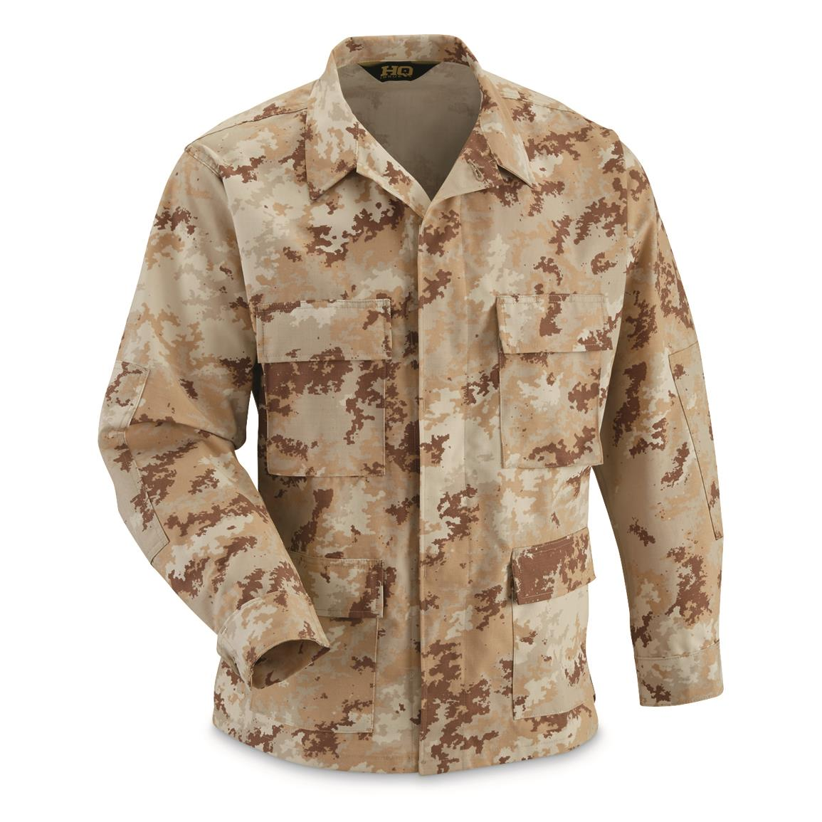 HQ ISSUE Military-style NYCO Ripstop BDU Jacket, Desert Digital