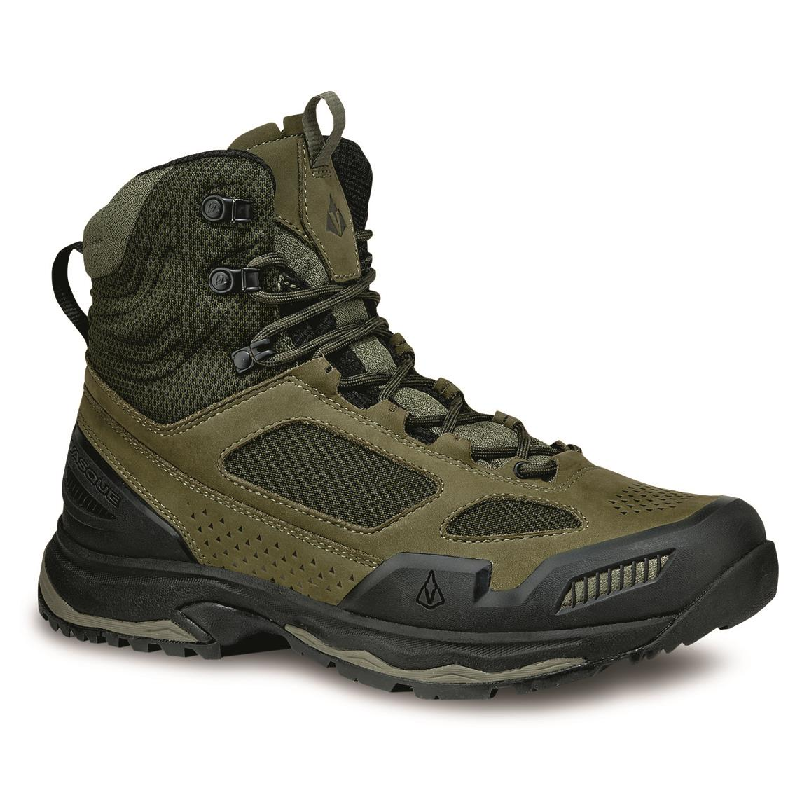Vasque Men's Breeze AT Mid Hiking Boots, Dusty Olive/jet Black