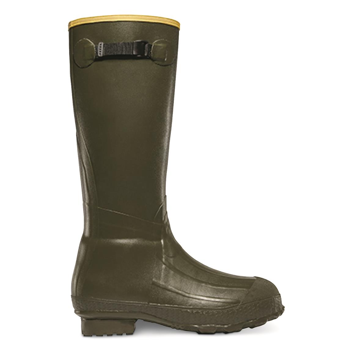 "LaCrosse Men's Burly Classic 18"" Rubber Boots, Olive Drab"