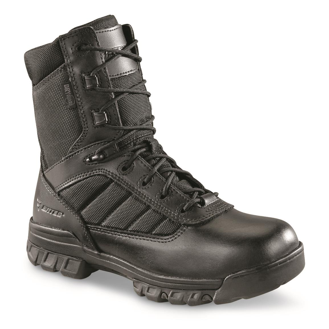 "Bates Men's Tactical Sport DRYGuard 8"" Waterproof Side-zip Duty Boots, Black"