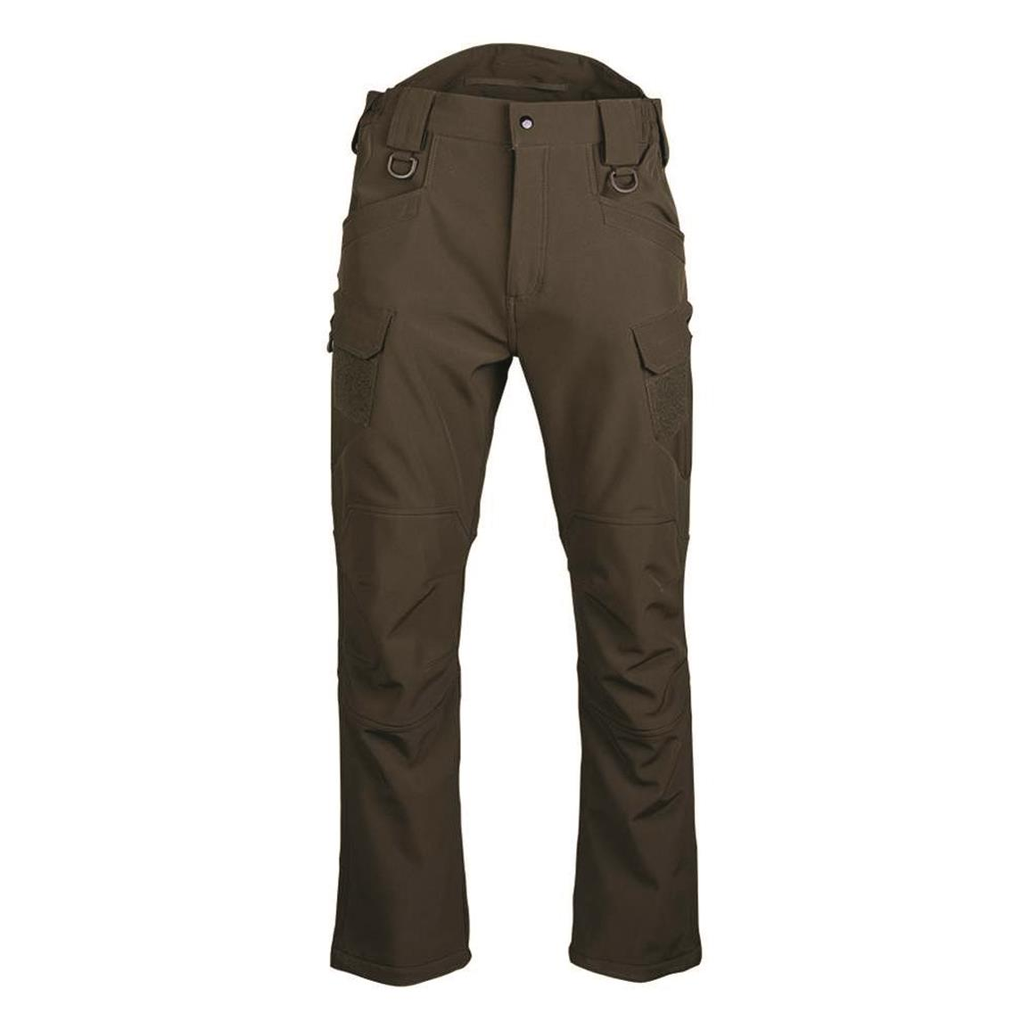 Mil-Tec Soft Shell 3-layer Pants, Olive Drab