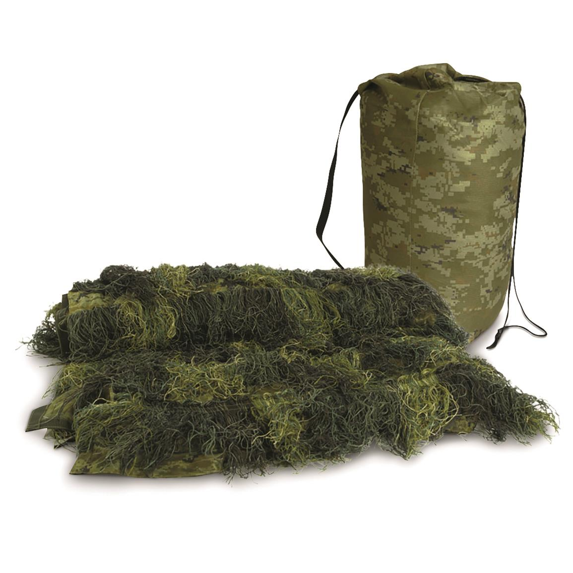 Mil-Tec Camouflage Fire Retardant Ghillie Blanket, Woodland