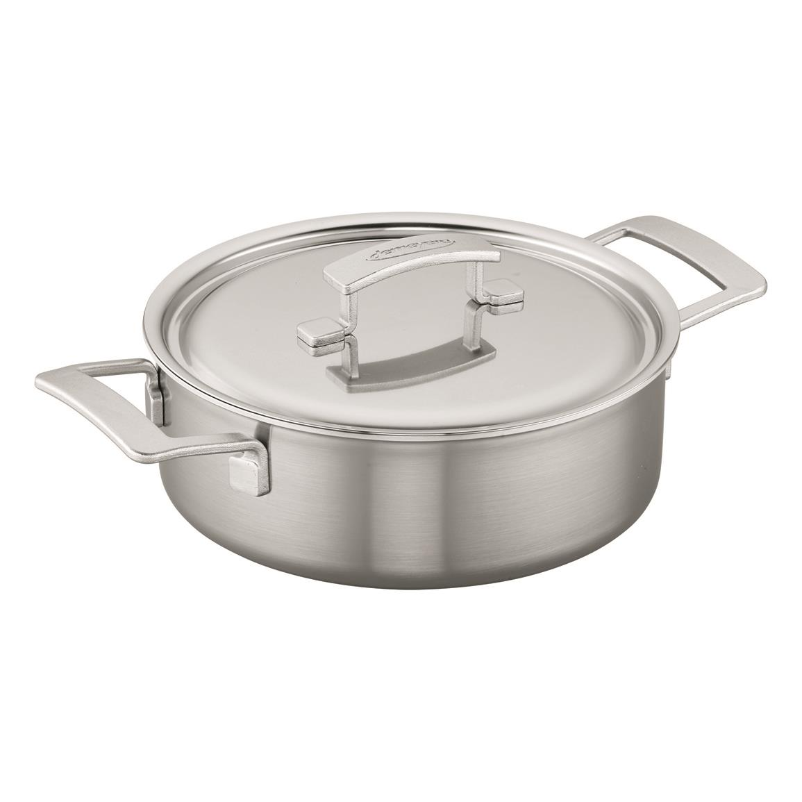 Demeyere Industry 5-ply 4-qt. Stainless Steel Deep Saute Pan