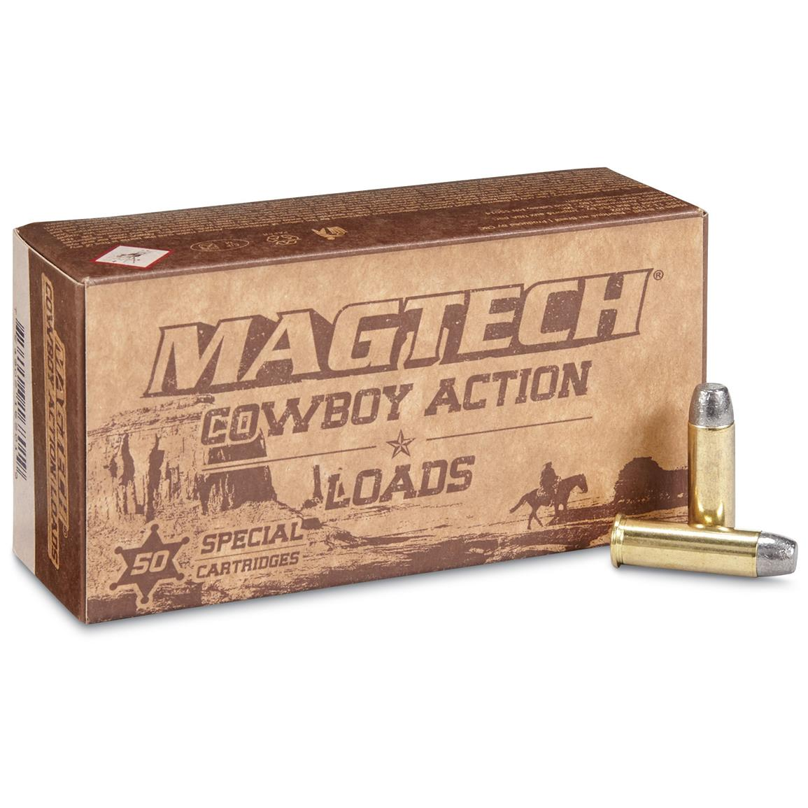 Magtech Cowboy Action Loads, .38 Special, LFN, 158 Grain, 50 Rounds